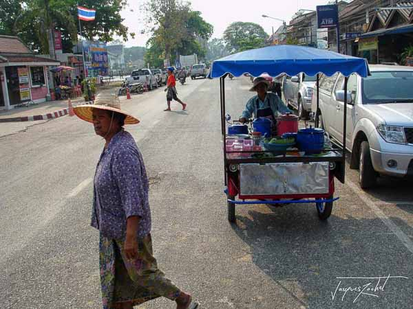 Thailand, in the streets of Si Satchanalai