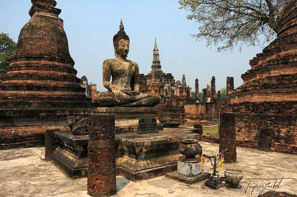 sukhothai old city, thaïland, asia