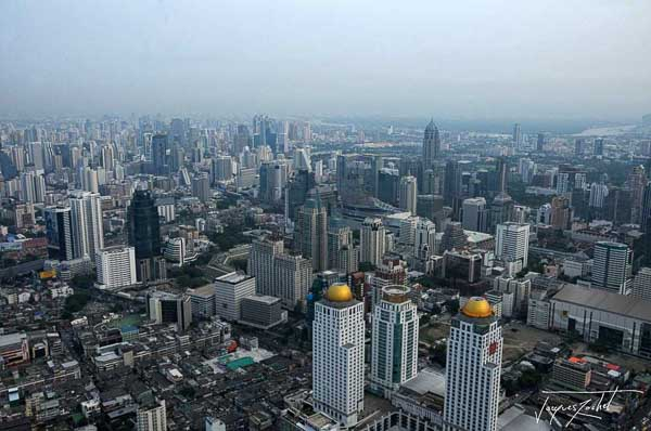 Bangkok view from the top of the Baiyoke II tower