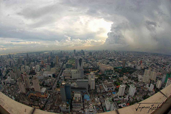 view of Bangkok from the baiyoke 2 tower