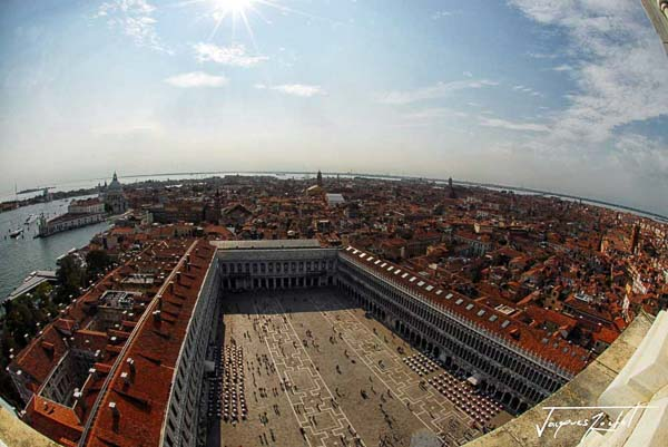 Piazza San Marco in Venice, view from the campanil
